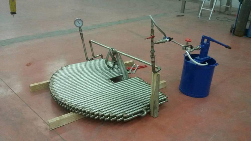 Collaudo componenti in acciaio inox